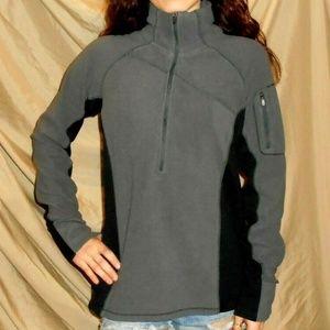 Black Gray Columbia Fleece Jacket Size Small